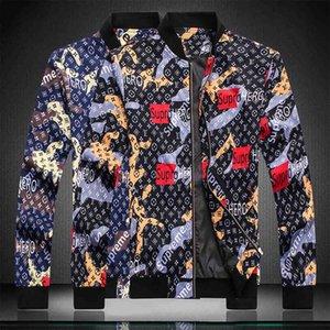 HOT coat Designer Fashion Men's medusa Jacket Windbreaker Long Sleeve Men's Jacket Zipper Animal Letter Pattern Casual Mens Bomber Jacket