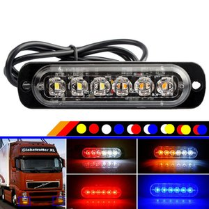 6 LED Flash Strobe Emergency Warning Light For Car Auto Truck SUV Motorcycle Side Strobe Warning Flashing Light 12V-24V