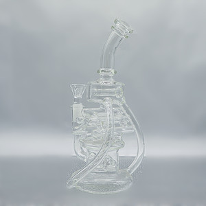 4.5in Recycler bong glass water pipe beaker bong oil rig percolater pipe with 14mm female joint