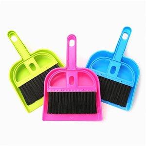Mini Portable Desk Office Plastic Desktop Dustpan Set Cleaning Brush Small Broom Cleaner