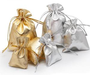 7x9 9x12 10x15 cm 13x18 cm gioielli regolabili imballaggio oro argento colore coulisse borsa disegnabile borse organza borse da sposa sacchetti regalo sacchetti caldi