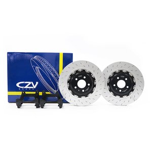Kıvılcım Desen Oluklu Araç / Araç / A7 için motor / Oto Modifiye Arka Big Fren Rotor Diskler Kiti