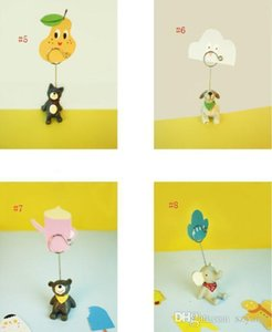 8 Style Mini Resin Animal Shaped Table Number Place Cip Card Clip Wedding Birthday Party Decoration SN3735