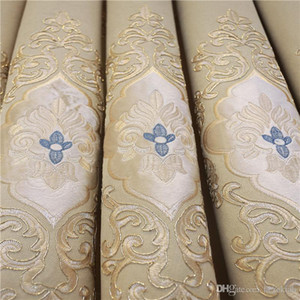 бежевый занавес Европейская роскошь вышивка утолщение синель ткань затемнение экран окна спальня гостиная пользовательские готовые шторы