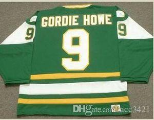 las mujeres de Hombres jóvenes Vintage # 9 Gordie Howe New England Balleneros 1978 WHA Jersey del hockey del tamaño S-5XL o costumbre cualquier nombre o un número