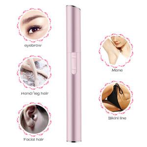 Práctica de la cara eléctrica de la ceja tijeras pelo Trimmer mini portátil de cuerpo de las mujeres máquina de afeitar extractor de cuchillas de afeitar Depiladora