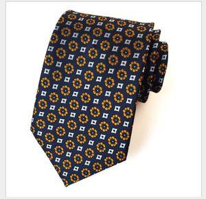 Dördüncü gündelik elbise profesyonel iş erkek kravat polyester jakarlı kravat