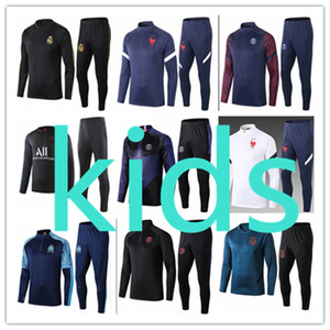 2020 2021 psg Ajax Paris Saint Germain France kids tracksuit football training fc Barcelona olympique de marseille Liverpool Real Madrid Atletico Survêtement Survetement kit