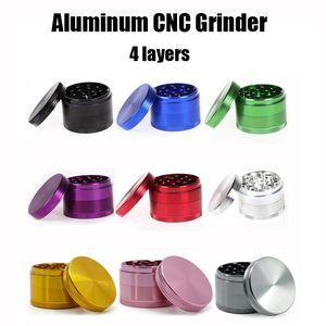 Qualité supérieure en aluminium CNC Grinders Herb Dry 4 couches tabac Crusher Grinders Grinder métallique 40/50/55 / 63mm Metal Grinder sharpstone Grinders