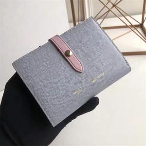 Europa e l'abbinamento portafoglio portafogli in pelle semplice colore di moda stuzzicadenti grano titolare della carta Stati Uniti multifunzionale delle donne fibbia