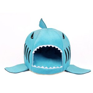 Unique Shark-mouth Shaped Sof Pet Dog House Warm Plush Dog Bed Waterproof Pet Nest Dog Warm Nest For Cat Puppy 3 Colors