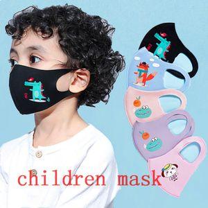 Hielo diseñador de seda de los niños máscaras protectoras de las muchachas de la historieta de la boca de los niños Máscaras anti-polvo respirable Earloop reutilizable lavable algodón de la cara