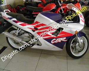 Para HONDA F2 CBR600 600F CBR600F2 Kit de carenización de motocicleta púrpura blanca roja 91 92 93 94 CBR 600 600F2 1991 1992 1993 1994