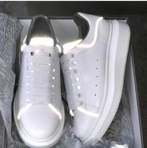 20Beat DesignerShoes baskets réfléchissantes 3M en cuir blanc PlatformSneakers Femmes Mens Casual Chaussures de Mariage Parti Suede Sport Sneakers