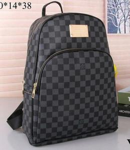 Design di lusso borse della borsa zaino donne e gli uomini 2020 Pelle Marca modo della lettera del ricamo nero Sport Tela di viaggio portatile Backpac