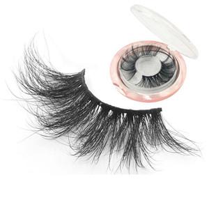 3D Mink Wimpern natürliche falsche Wimpern lange Wimpernverlängerung Faux gefälschte Wimpern-Make-up-Tool mit Box Rra1306