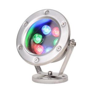LED 6W IP68 Waterproof Spotlight Underwater Light Aço Inoxidável 304 AC DC 12V 24V Underwater Light para Piscinas paisagem peixes Pond Water View