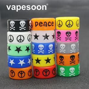 VapeSoon Skull Style Vape Ring 24 * 12 * 2mm Anillo antideslizante Para Relx Anillo antideslizante etc.