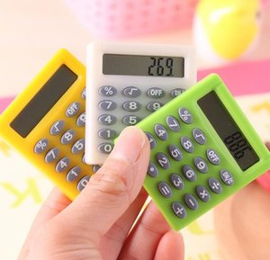 Candy color Pocket Mini Calculator Handheld Pocket Type Coin Batteries Calculator carry extras mini caculators wholesale