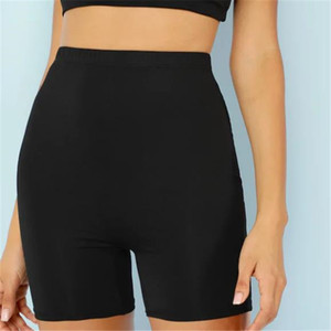 Sexy Women Sports Jogger Shorts Fitness Cycling Stretchy High Waist Biker Shorts Pantalones Casual Elastic Waist Short Trousers
