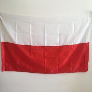 Pirinç Grometler Ücretsiz Denizcilikte ile Polonya Bayrağı 3x5FT 150x90cm Polyester Baskı Kapalı Açık Asma Sıcak Satış Ulusal Bayrak
