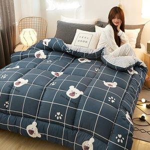 New Fashion Cartoon Printing 100% Feather Fabric Winter Thick Duvet Bread Shape Comforter Quilt Bed Set Blanket Queen King Size