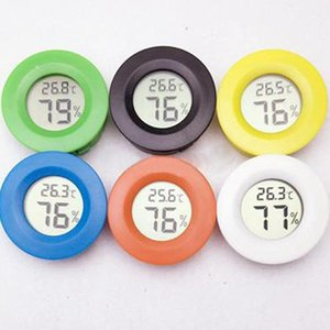 Nero nuovo round digitale Cigar Humidor temperatura igrometro strumento termometro fumatori Strumento regalo uomini d'affari