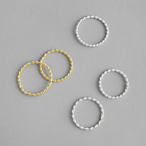 New 100% 925 Sterling Silver Twist Rings For Women White Gold  18K Gold Color Finger Ring Simple Fine Jewelry
