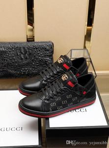 SUPERIORE! Fashion Designers serpente di modo di stampa per amore cuoio delle scarpe da tennis bassa top nero e bianco Uomini Donne G Scarpe casual