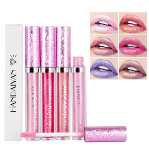 HANDAIYAN 다이아몬드 샤이닝 류킨 펄 러스터 롱 래스팅 립스틱 6 색 쉬머 노 스틱 컵 립글로스 RRA1849