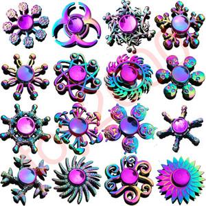 Arcobaleno metallo fidget spinner stella fiore cranio drago ala mano Spinner per autismo ADHD bambini adulti antistres giocattolo EDC Fidget giocattoli per bambini