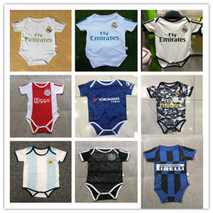 2020 PERIGO DE RAMOS ISCO ASENSIO Mbappé Pogba Bebê Manga Curta Macacão de Futebol 20 21 crianças Triângulo Suba jerseys Roupa Loveclily