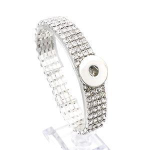 Mode Complet De Cristal De Mariée Bracelet 116 Interchangeable Bracelet Élastique 18mm Snap Bouton Bracelet Charme Bijoux Pour Femmes Cadeau