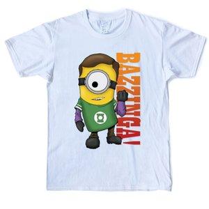 Sheldon Bazinga Minion Design Drôle T-shirt 100% coton T-shirt col rond manches courtes T-shirts Mode XS-shirt 3XL Tops imprimé Casual hommes