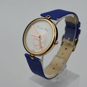 Ultradünnes Roségold Damen Diamant Blume Uhrenmarke beiläufige Art und Weise Luxus Krankenschwester Damen kleiden weibliche Schnalle Uhr Mädchengeschenk Falten
