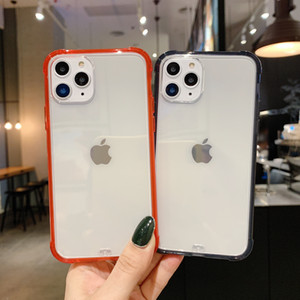Антидетонационные ТПУ защитный противоударный телефон чехол для iPhone 11 Pro X XR XS Max 7 8 Plus SE Задний бампер Защитный чехол
