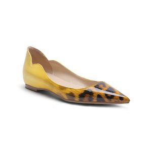 Mais novo frete grátis attactive leopard print mulheres dress shoes de alta qualidade queda de salto baixo primavera sapatos de salto plana calçado da senhora do escritório
