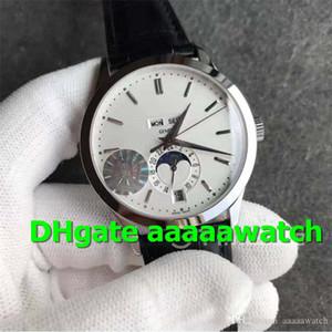 KM Hot Sale Men Watch 5396G-011 relógios suíços Calendário 9015 Automatic Moonphase real de trabalho de aço inox 316L Mens Relógios