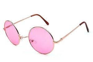 Erkekler Kadınlar için new moda Yuvarlak güneş gözlüğü Metal Stil Güneş Gözlüğü Klasik Vintage Marka Tasarımcısı Güneş Gözlükleri ulculos De Sol 9219