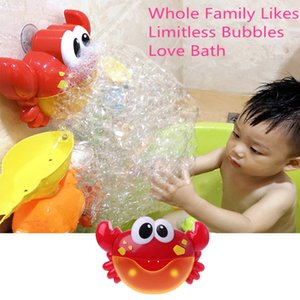 Electric Crab Bubble Machine Bathtub Bubble Maker Light Music Baby Bath Toy Funny Music Crab Bath Outdoor Christmas Gift Blower
