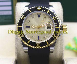 Luxus-Männer-Krone-Uhr automatische Diamant-Golduhren schwarz blau goldener Keramik-Sub-Gummi-Riemen 116618 Tauchen 116619 Sport Armbanduhren