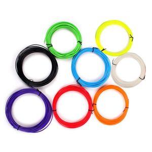 3D 5m Printing Pen Accessories Filament Refill Pack 1.75 mm PLA Plastic 10 Colors Set New 3D Printing Wire Supplies