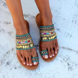 Marchwind Women Artisanal Sandals Flip-Flops Handmade Greek Style Boho Flip Flop Sandals Streetwear Fashion Shoes Women Chaussures Femme