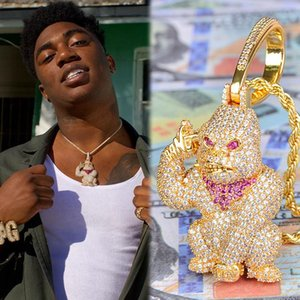 Iced Out 3D Big Орангутанг Подвеска Iced Out Lab Алмазные Золото Серебро покрыло CZ теннис Chaain Mens Hip Hop Jewelry