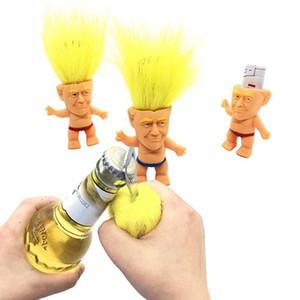 8 centimetri simulazione Trump Troll Doll multifunzione Dolls Bottle Opener regalo mini bambola Leprocauns Dam Troll Giocattoli Figura Slip Doll partito DHA393
