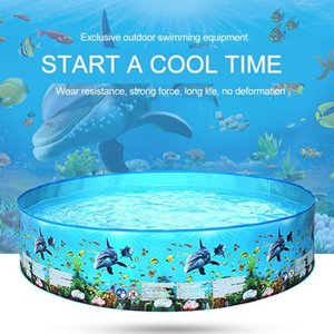 152*25cm Children swimming Pool pvc inflatable Bath Tub Round Fish print Summer Home round Water pool kid Baby Child Water play