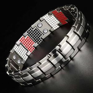 Homens Jóias cura magnética Balance Bracelet Saúde Pulseiras de prata Titanium Projeto especial para o Homem 10212