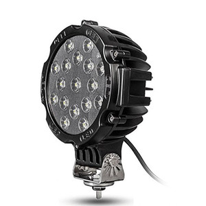 """2""""x 7"""" 51W Round Off Road Led Work Lights for Truck Bumper Driving Black"""