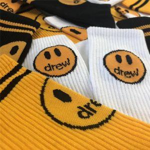 Sourire Visage Chaussettes Pour Femmes Hommes 100% coton imprimé Drew épais Drew House Stocking Casual Cotton Hiphop Chaussettes CX200630