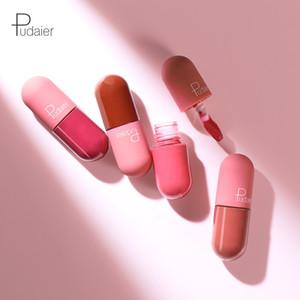 Pudaier de ultra Mate Brillo de labios 18 colores Velvet Nude Maquillaje líquido impermeable Pintalabios Lip Tint Lipgloss Cosméticos de maquillaje de los labios